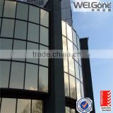 Dark Grey Reflective Coating insulated Glass for building wall