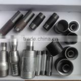Galvanized/Zinc plating&black carbon steel pipe nipples and socket factory steel barrel nipples NPT American standard factory