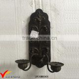 Antique Retro Metal Black Candle Wall Sconces