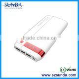 portable charger quick charge 2.0 20000mah three usb port power bank