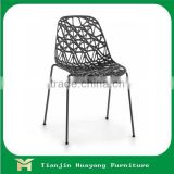 Modern innovative design dining room furniture metal base PP Plastic COFFEE CHAIR/ RESTAURANT CHAIR for sale