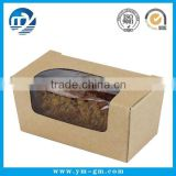 Foldable custom food grade kraft paper cake box