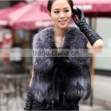 2016 Autumn and Winter women Faux fox Fur Vest