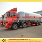 CLW chengli factory 8*4 30 ton gas cylinder transport truck, bulk lpg truck, lpg filling truck