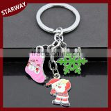Hot selling SW17052 Promotional christmas gift keychain/