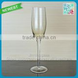 Stained Glass Drinking Champagne Goblet Light color Glass Stemware New Arrival Glass Goblet Cup Champagne Flute