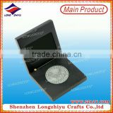 Metal souvenir commemorative coin medal,3D casting challenge military zinc alloy silver coin in wooden box