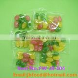 mix fruit flavor jelly bean soft candy pack in small bag in bulk