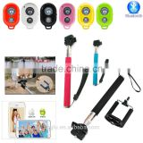 Aluminum Material and Mini Tripod / Lightweight Type selfie stick with bluetooth shutter button