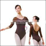 A2039 Mesh sleeves ballet leotards gymnastic leotards dance wear ballet costumes dance wear ballet leotards dancewear dance wear