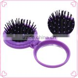 Brush hair and hair brush with mirror set