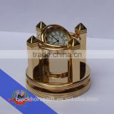 desktop clock and gold gift
