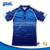 Full sublimation custom club blank 100% polyester dry fit rugby shirt