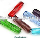 Wholesale Hot Sale Transparent Twisted Glass Beads For Curtain Making PB-CB034