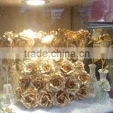 Gold foil carnations and Roses,Gold flowers