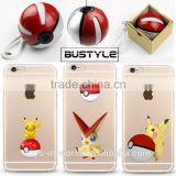 2016 3D pokemon phone case for iPhone 6 6s plus case cover for samsung galaxy s6 s7, wholesale pokeball power bank
