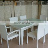 2015 Foshan factory hot sell rattan dining set