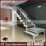portable metal stairs inox stain pole glass railing