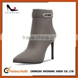 Best price brown leather high heel boot for women