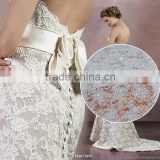 2016 popular design wholesale lace/cord embroidery lace fabric for wedding