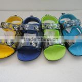 2015 china shoes manufacturer kids fancy sandals PU sandals for boys