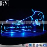 kittens shape led table lamp sign custom edge lit sign remote control available all kinds patterns laser engraved led sign