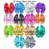 New Hot Sale!! 12*10cm shiny hair bowfor chirdren hair decoration