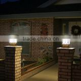 outdoor pillar gate light.solar pillar post gate light.solar led pillar light with IP 65 protection level