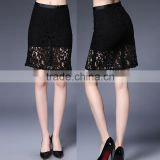 Wholesale clothing factory top selling lace black women tight sexy mini skirt