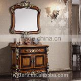 Antique Style Sanitary Ware,Vintage Wood Carved Bathroom Vanity With Single Sinks WTS303