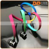 Buy direct from China market Super stereo bass shoelace headphone for latest 5g mobile phone custom earbuds with silicone case