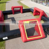 4 GOALS inflatable football pitch,custom inflatable soccer field on selling,no floor inflatable soccer pitch
