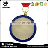 2016 new fashion custom die casting round shape soft enamel iron brass zinc alloy antique gold plated blank medal with ribbon