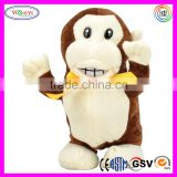 D824 Soft Electric Monkey Stuffed Talking and Walking and Talking Monkey Plush Toy