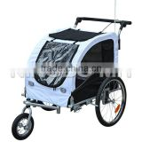 Black 2in1 Double Pet Bike Trailer and Stroller