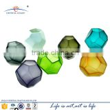 New Design mini decoration ball shaped Multifaceted glass vase