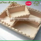 factory wholesale paint yourself DIY creative unfinished wooden tray,wooden serving tray