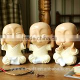 Resin little monk statue baby buddha statue