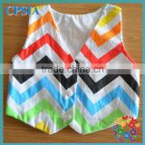 rainbow chevron sleeping baby cotton vest pattern baby vest