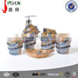 Hand painting pearl glaze conch bathroom fittings accessories