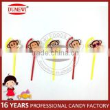 New Item Fruit Monkey Pressed Candy Tablet Candy with Toy