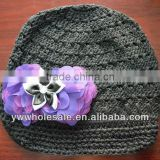wholesale Newsboy cap baby infnat toddler hat with flower new baby crochet hat