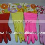Latex household gloves/kitchen gloves/safety work gloves