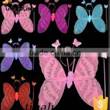 new products 2016 girls dress up costume butterfly fairy wings with glitter halloween decorations