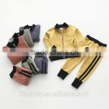 KS10619B New arrive children autumn clothes set simple blank kids high quality tracksuits