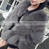 2017 winter artificial Faux Fox Fur Coat Woman Shaggy Fluffy Short Style Fake Fur Coats Women Long Hair Luxury