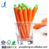 cute novel vegetable carrot shape promotional gel pen gift for schoold kids