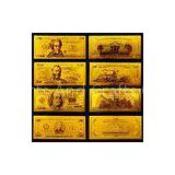 America Gold Engrave Banknote , Value Collection Golden Dollar Bills