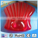 2017 Eco-friendly 6P PVC Red Transparent Inflatable Seashell Float
