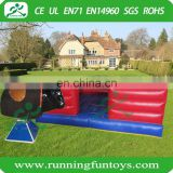 Kids inflatable mechanical bull riding game, inflatable rodeo bull kids ride